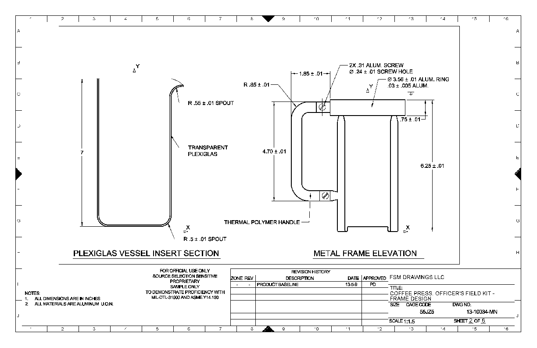 Mechanical Drafting Samples Sample Drawings